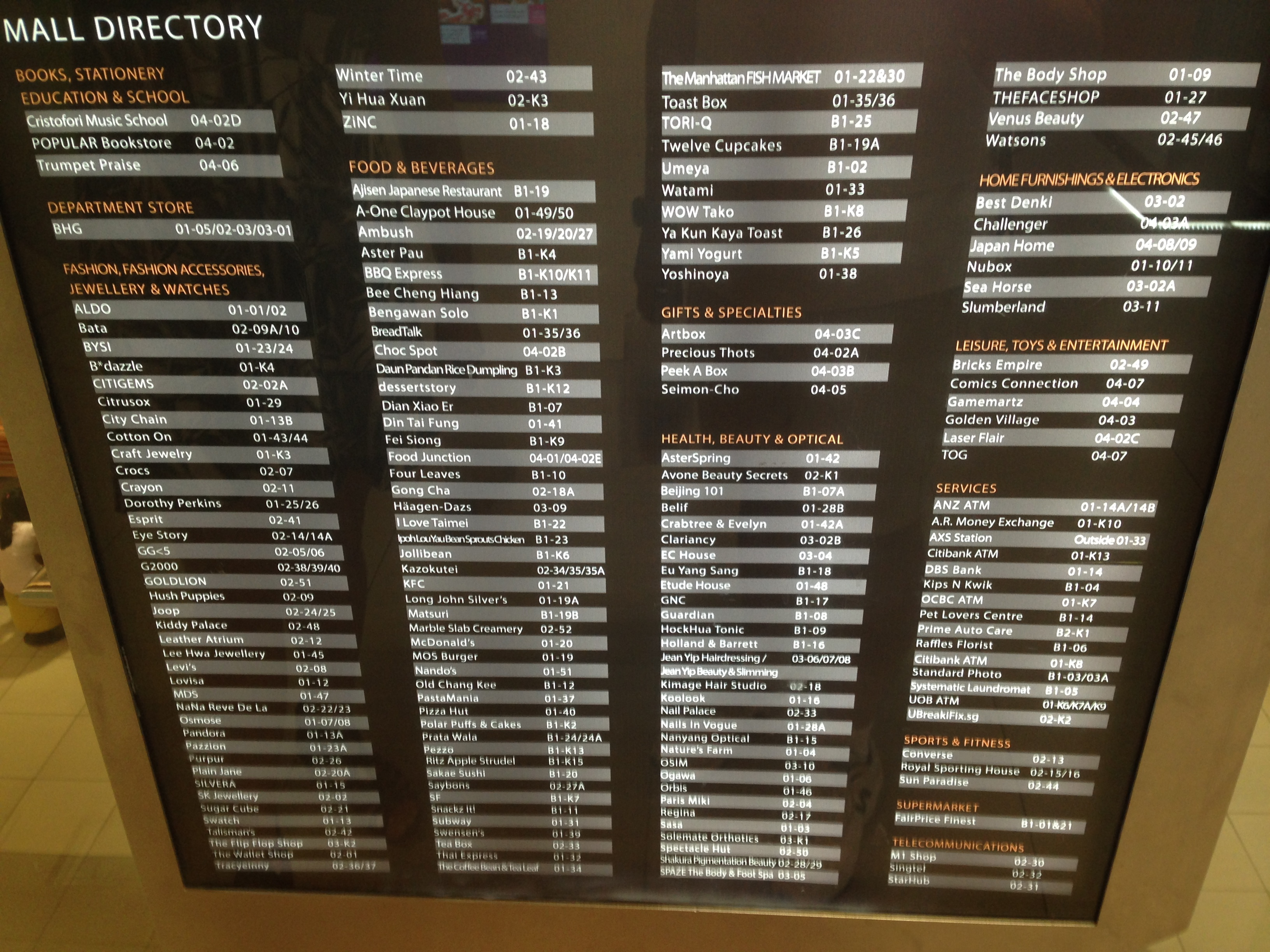 mall directory the christian rationalist