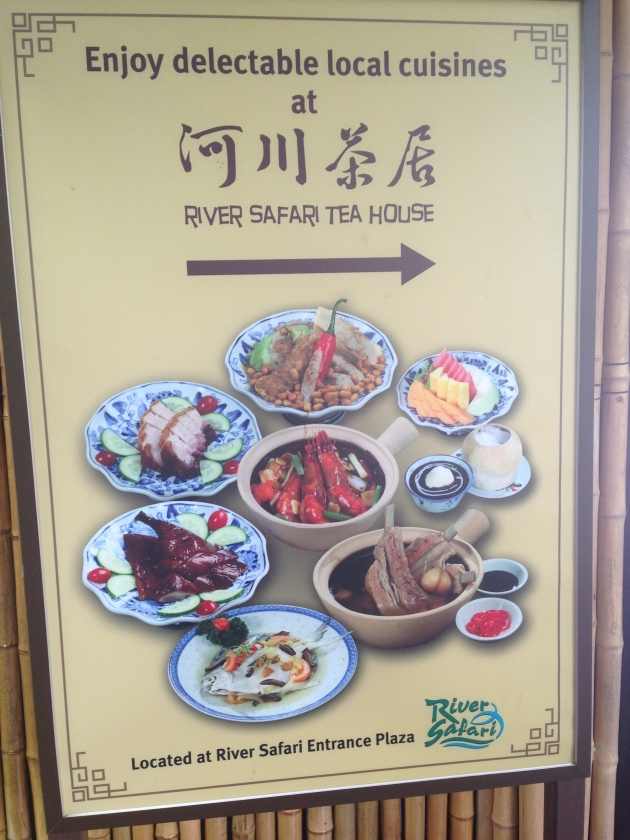 River Safari Food Sign