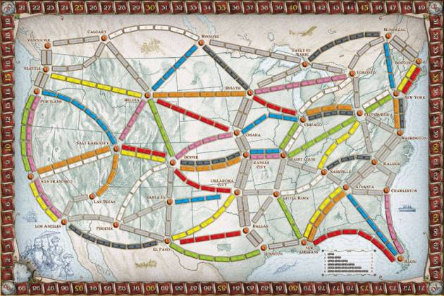 Ticket to Ride US/Canada Map